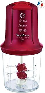 comprar comparacion Moulinex Multimoulinette - Picadora, 3 cuchillas, 500 W, 0.5 L, acero inoxidable/plástico, color rojo rubí