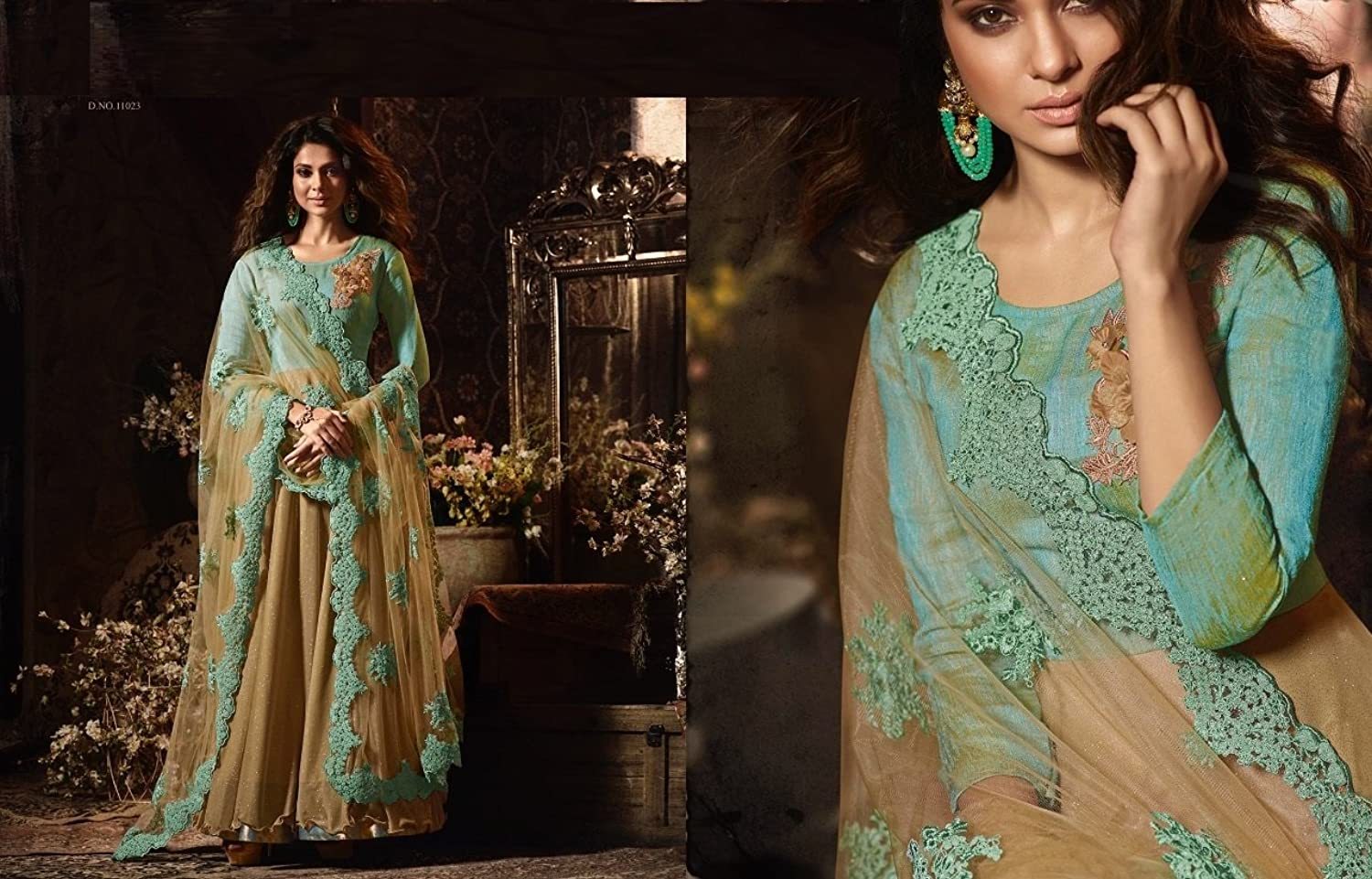 Bollywood Wedding Women Designer Party Floor Length Anarkali Suit with Pant Style Grown Dress 2785