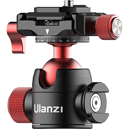 Tripod Head Quick Release Plate ULANZI U-70 Professional Metal 360° Panoramic Ball Head with Quick Release Plate & Cold Shoe, 44lbs/20kg Load for Tripod,Monopod,Slider,DSLR,Camera,Camcorder