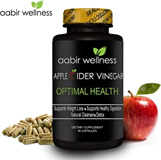 Aabir Wellness - Powerful Apple Cider Vinegar Capsules 350mg – 90 day supply, All Natural Weight Loss, Detox, Digestion & Optimal Health, Powerful Kelp and Spirulina blend, Manufactured in the USA
