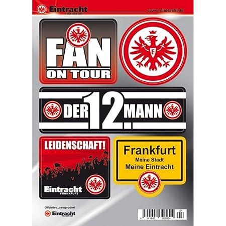 Eintracht Frankfurt Aufkleber Sticker Autoaufkleber Logo Schwarz Plus Gratis Aufkleber Forever Frankfurt Sport Freizeit