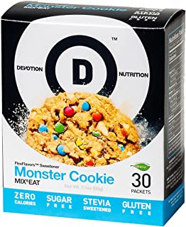 Devotion Nutrition Flex Flavors Stevia Instant Flavoring, Monster Cookie, Zero Calories, Sugar Free, Gluten Free, Stevia Sweetened, 30 Count