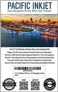 $48 » (11-x-17) 25 Sheets 100% Cotton Fine Art Matte Double Sided Inkjet Paper - 16mil 325gsm See Description for Compatibility ...