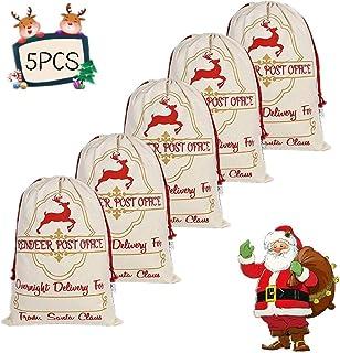 UNICORN Christmas Kids Santa Sack Xmas Stocking Hessian Toy Present GiftBag PINK