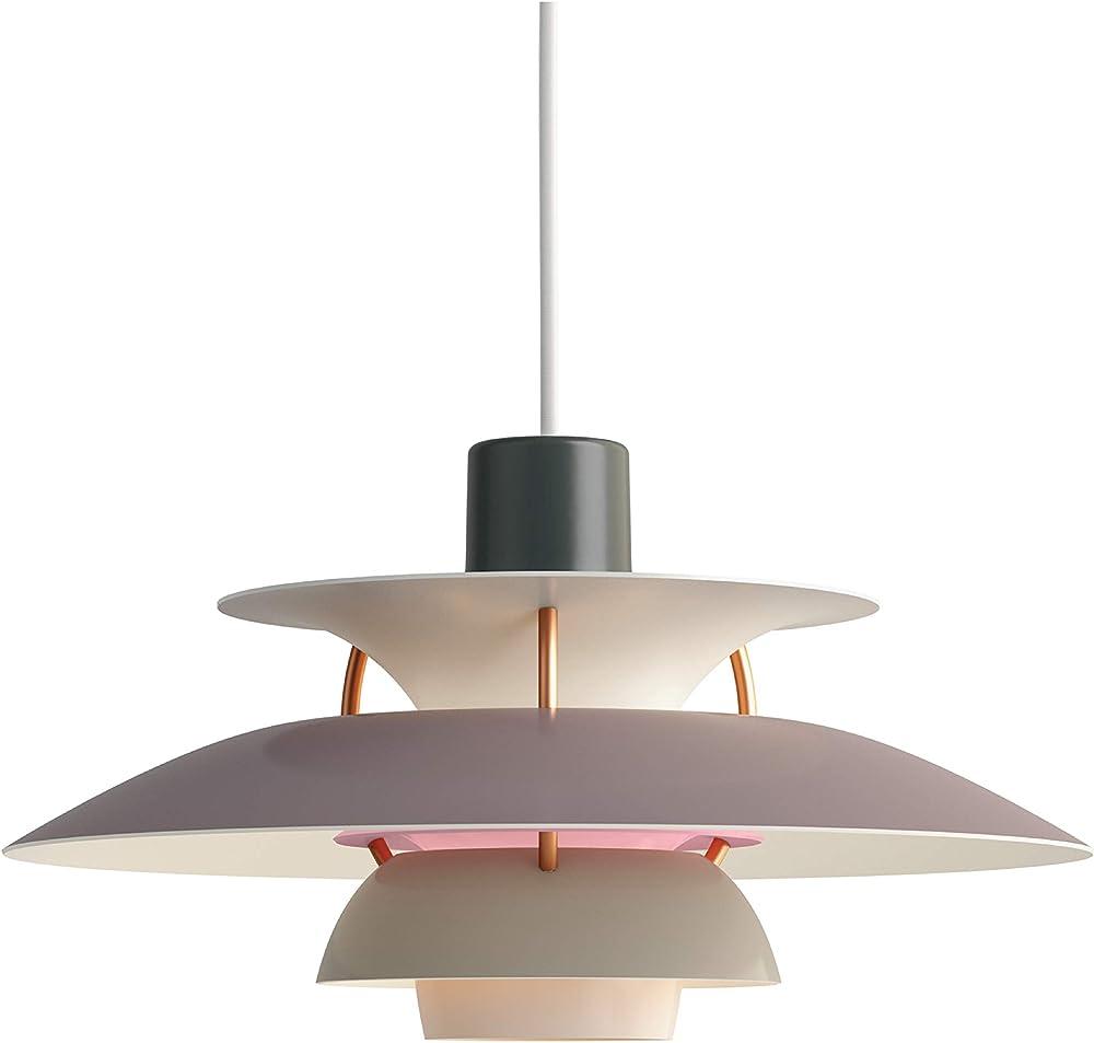 Louis poulsen ph 5 mini,lampada a sospensione, in tessuto e alluminio 5741095133