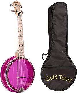 Gold Tone Little Gem Ukes, 4-String Ukulele, Right, Purple (LG-A)