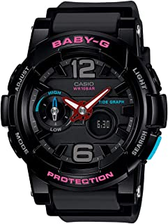 Casio Womens Quartz Watch, Analog-Digital Display and Silicone Strap