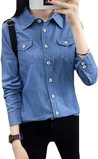 قميص تونك دولمان نسائي من Comaba بياقة سفلية مغسولة مقاس كبير