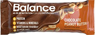 Balance Bar, Healthy Protein Snacks, Chocolate Peanut Butter, With Vitamin A, Vitamin C, Vitamin D, and Zinc to Support Im...