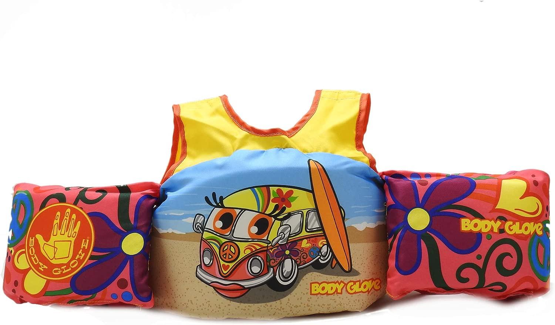 ボディグローブ 子供用 (30-50ポンド) Learn to Swim Life ジャケット パドルパール フラワーバン