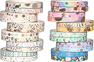 Romantic Floral Paper Washi Tape, 24 Rolls, Retro Tapes, Flowers Masking Tapes for Arts, DIY Crafts, Decorative Stickers DIY Stationery School Supplies (24 Rolls)