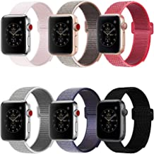 penen Nylon Replacement Watch Band 42mm 44mm Compatible with Watch Series 4,3,2,1 6 Pack