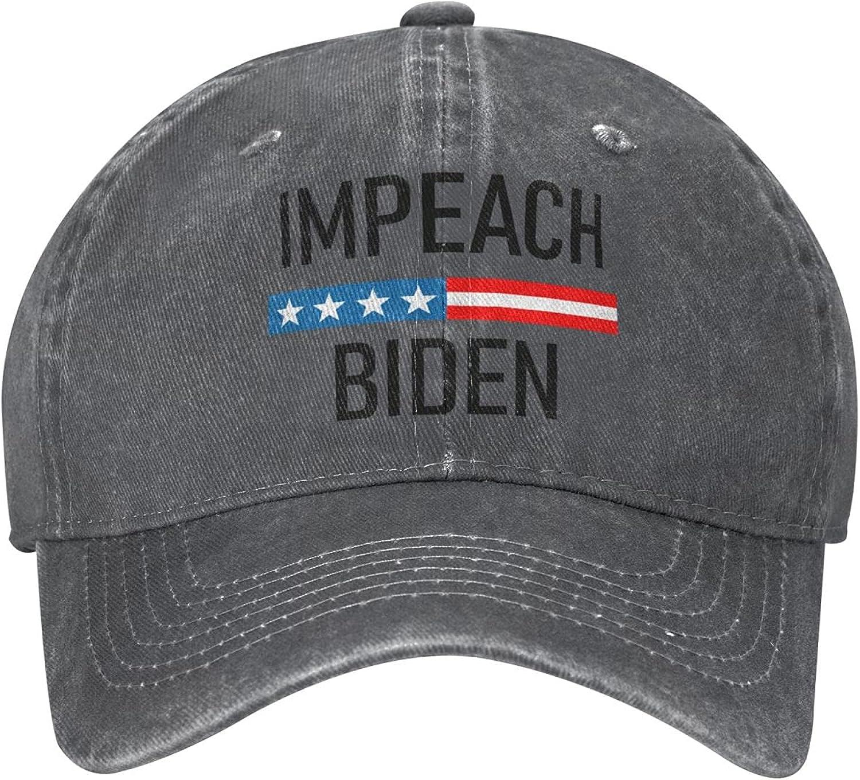 Impeach Biden Unisex Baseball Cap,Vintage Cotton Baseball Hat Adjustable Snapback Classic Dad Hat Trucker Hat Cowboy Hat Deep Heather