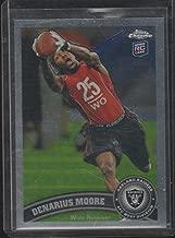 2011 Topps Chrome Denarius Moore Raiders Rookie Football Card #33