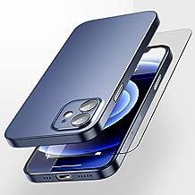 SmartDevil Ultra Dünn für iPhone 12 Mini Hülle mit Gratis Panzerglas Slim Matte 12 Mini Case Softcase Anti Scratch Cover A...