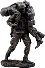Ebros Gift Hacksaw Ridge Military Soldier Carrying A Wounded Brother Figurine 7.25