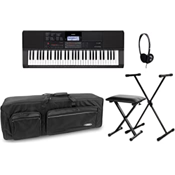 Casio ct X700 Keyboard Deluxe Set (Digital Keyboard con soporte para teclado de 61 teclas, X, auriculares, Keyboard Banco & bolsa de transporte), color negro: Amazon.es: Instrumentos musicales