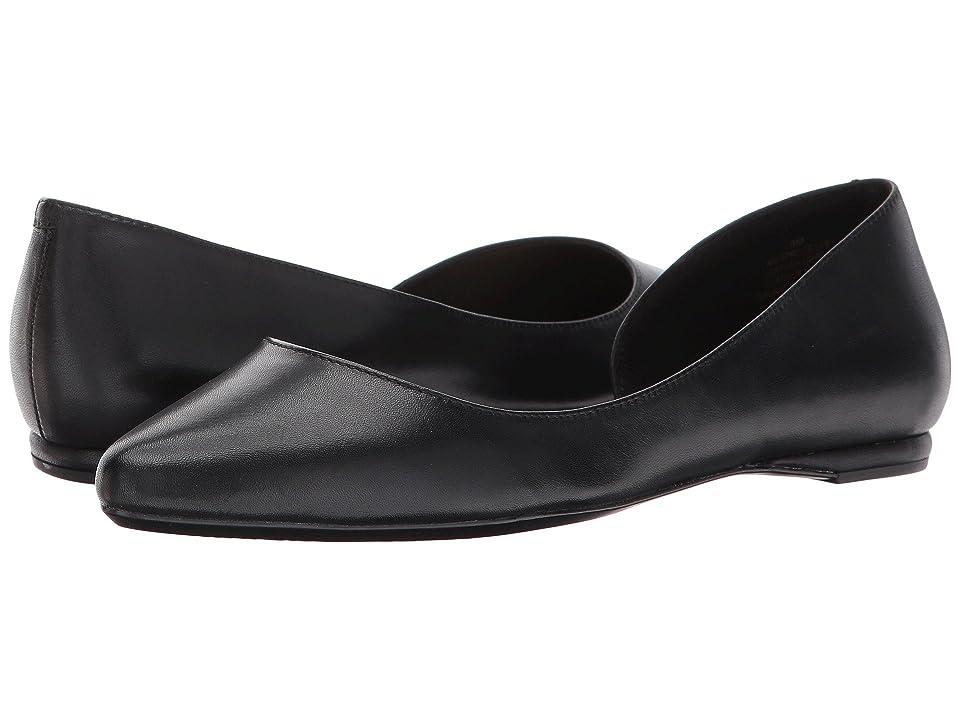 Nine West Spruce9x9 Flat (Black Leather) Women