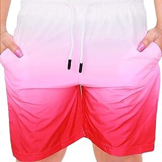 Kids Girls Shorts Fade 2 Tone Pink Summer Chino Short Knee Length Half Pant 3-13