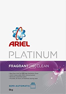 Ariel Platinum Laundry Powder Detergent Fragrant HD Clean 5 kg