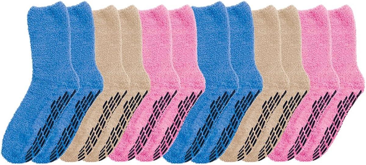 Silverts Unisex 5 ☆ popular 6-Pack Gripper Non Socks Hospital Skid Omaha Mall Slipper N