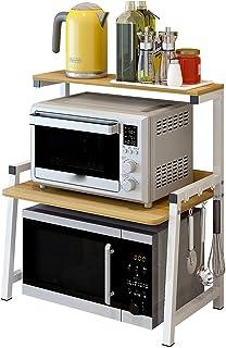 Étagère de Cuisine Micro-Ondes, Étagère de Rangement À 3 Niveaux, Étagère À Épices Organisateur Étagère de Rangement Facil...