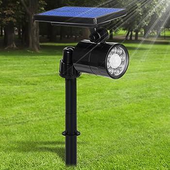 Lampe Solaire Extérieur Ultra Puissante Détecteur de Mouvement 4 Modes, Spot Solaire 8 LED Etanche IP65 Eclairage Exterieur Sans Fil 360° Reglable