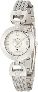 Charles-Hubert, Paris Women's 6809-W Premium Collection Stainless Steel Wire Bangle Watch