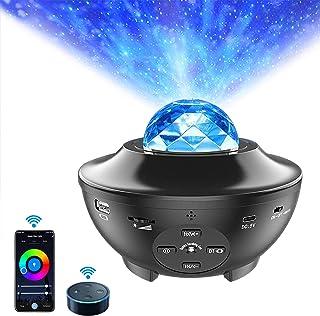 SmartStarProjectorNightLight, ALED LIGHT Ocean Wave Built-in Bluetooth Speaker Sound Sensor LED Starry Night Projector...