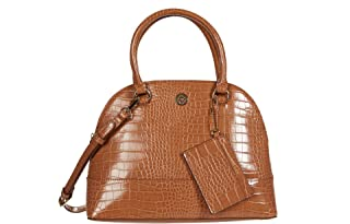 Croco Triple Dome Satchel