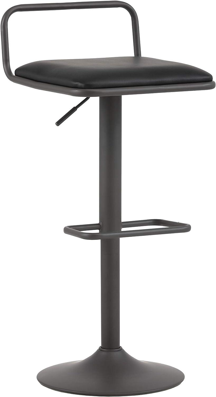 Sunpan Modern 102496 Burke Adjustable Barstool, Onyx