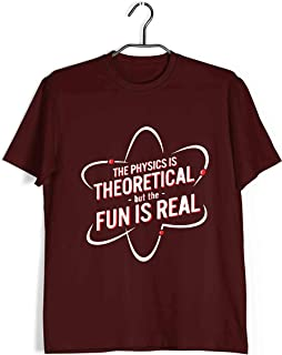 Aaramkhor Physics T-Shirt for Men | The Physics is Theoretical BUT The Fun is Real | Geeky Nerd | Regular Fit for Men Size...