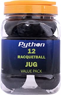 Python 黑色壁球(超值装 - 12 个球体/长球球!)