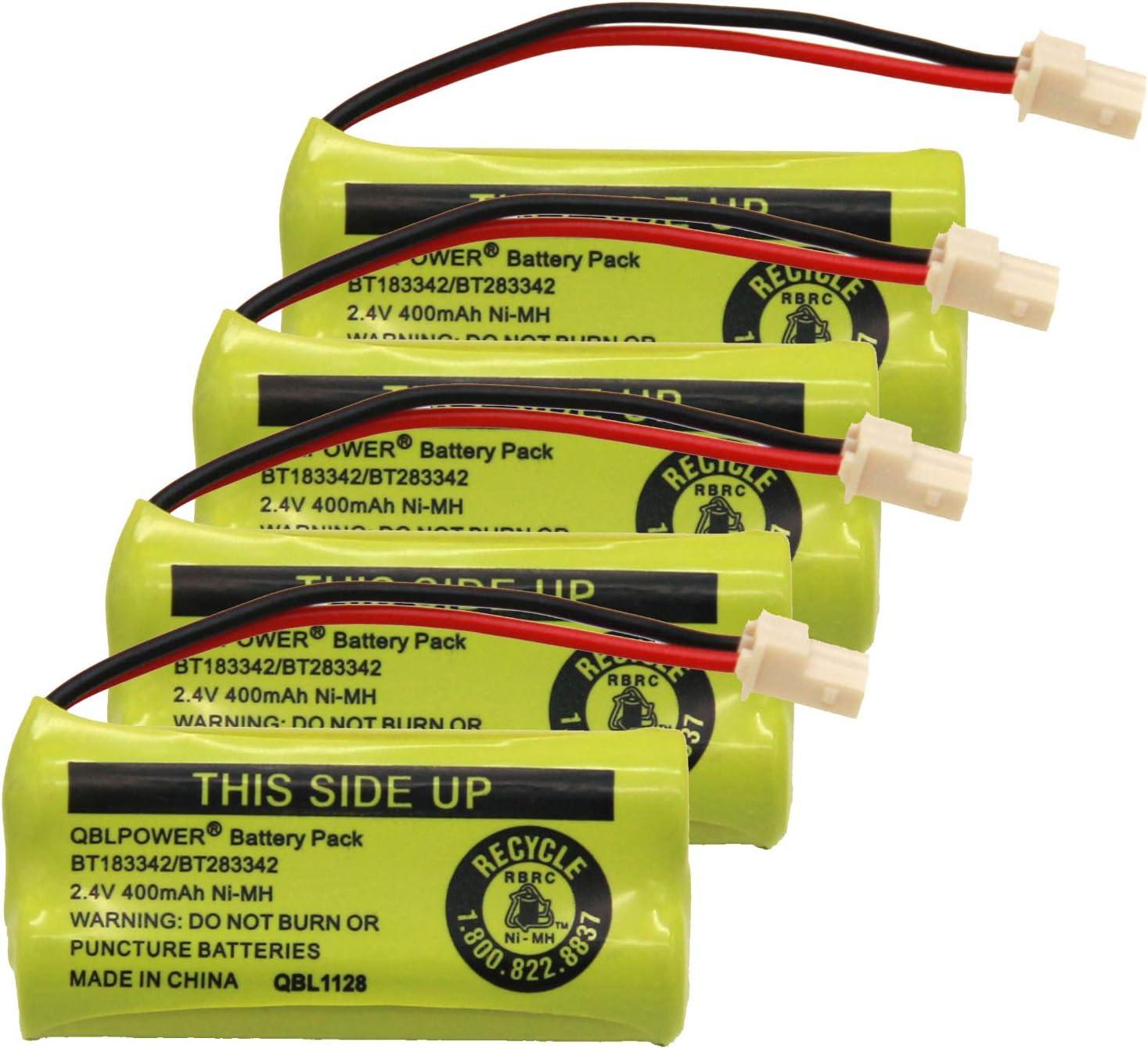 QBLPOWER BT-183342 BT-283342 BT-166342 BT-266342 BT-162342 BT-262342 Battery Compatible with CS6114 CS6419 CS6719 EL52300 CL80111 Cordless Phone(Pack of 4)
