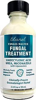 Ebanel Antifungal Treatment, 2 Oz Athletes Foot Treatment with Miconazole, Undecylenic Acid, Urea, Oregano Oil, Salicylic ...