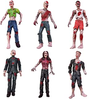 HAPTIME 6 Pcs Zombie Action Figures 3.75 inch Detailed Walking Dead Toys Terror Corpse, Dolls Suitable for Decorating Rooms, Desk, Bookshelf, Cake Topper, As Gifts for Zombie Lovers to Collect
