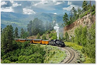 The Train, From Bridge by Mike Jones Photo, 22x32-Inch Canvas Wall Art