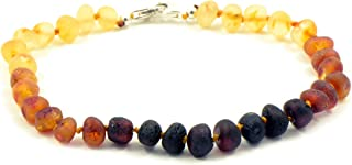 Genuine Raw Baltic Amber Adult Anklet, Adjustable 7.5~9.5inches (19-24cm)
