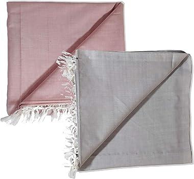Riyashree Organic Cotton Silky Soft Bhagalpuri Dull chadar Blanket & Duvet ( 53*96 in ) Combo ( Pack of 2 ) CD 06 07