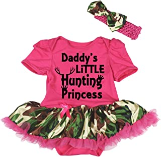 Hunting Princess Hot Pink Bodysuit Camouflage Tutu Nb-18m