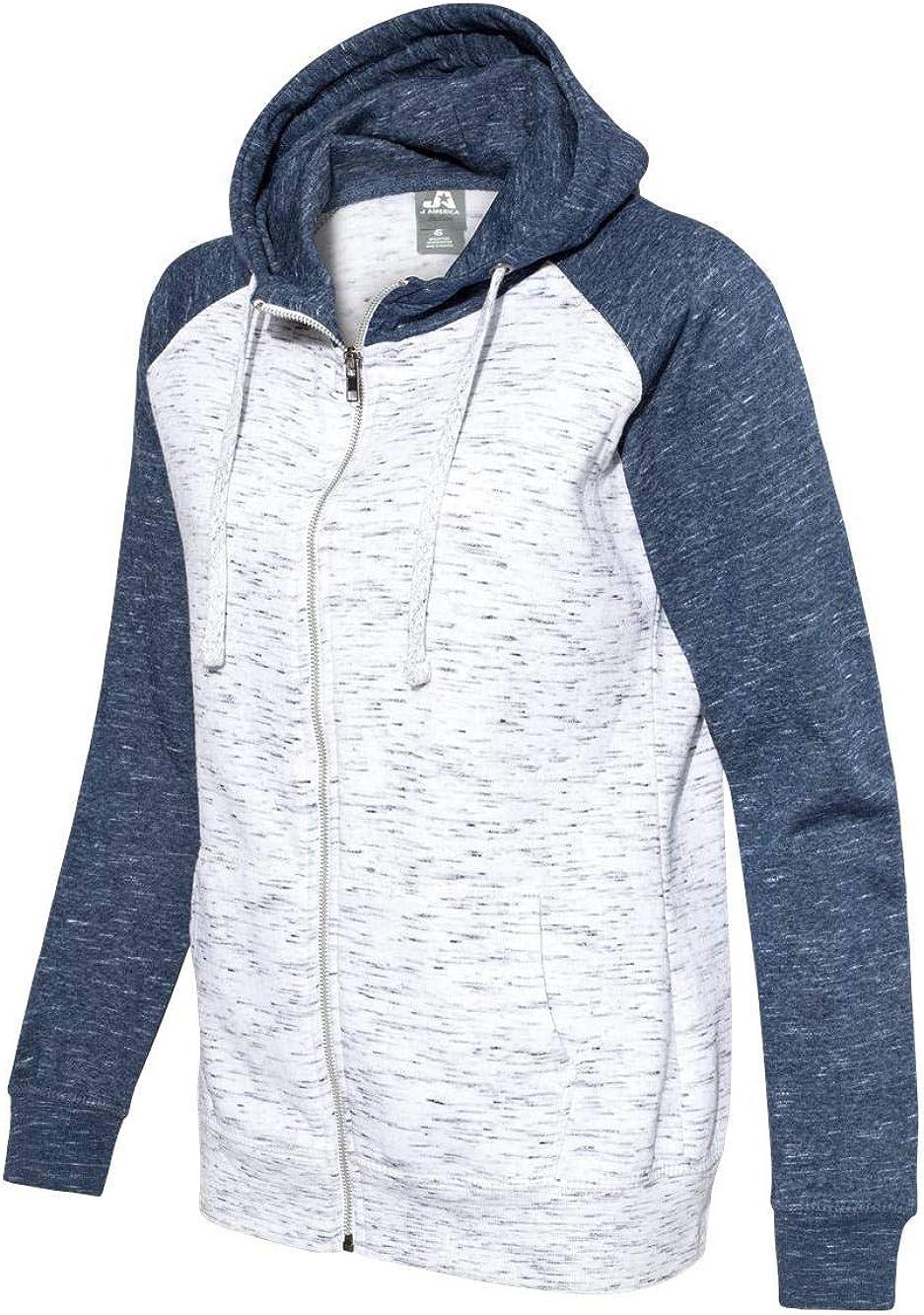 J. America Womens Mélange 10%OFF 豊富な品 Sweatshir Colorblocked Full-Zip Fleece