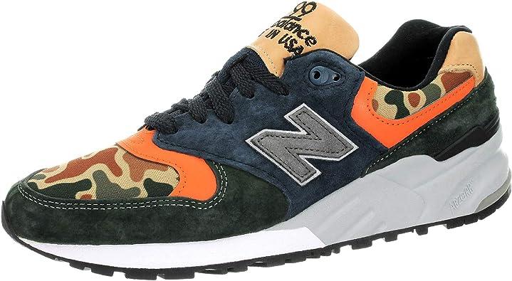 Amazon.com | New Balance Men's 999 Asia Suede Sneakers White/Blue ...
