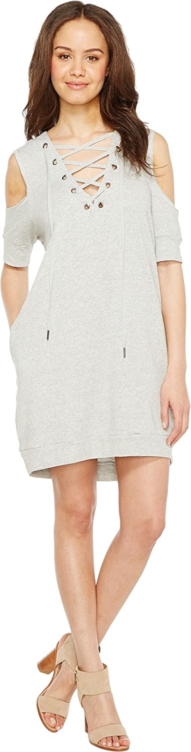 [BLANKNYC] Blank NYC Womens Sweatshirt Dress with Lace Detailing in Negative Space
