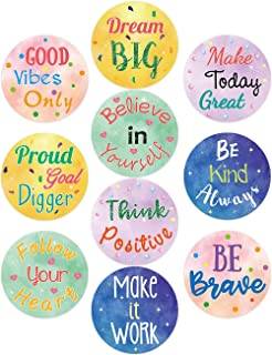 Watercolor Positive Sayings Accents 20PCS 7 Inches Classroom Bulletin Board Decoration Cutouts for School Kids Home Decor