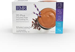 HMR 70 Plus Chocolate Shake and Pudding Mix, Lactose-Free, 15g Protein, 110 Cal., 18 Single- Serve Packets