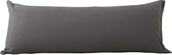 EVOLIVE Ultra Soft Microfiber Body Pillow Cover Pillowcases 21 X54 With Hidden Zipper Closure Charcoal Grey Body Pillow Cover 21 X54