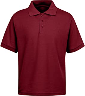 3ffea07c0 Premium Boys School Uniform Short Sleeve Stain Guard Polo Shirt