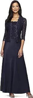 Alex Evenings Women's Sleeveless Dress and Matching Jacket