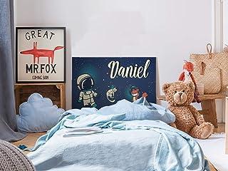 Cabecero Cama PVC Infantil Personalizado Espacio 100x60cm | Disponible en Varias Medidas | Cabecero Ligero, Elegante, Resistente y Económico