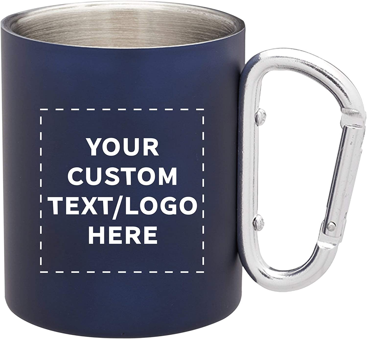 Custom Discuont Promos Carabiner Handle 10 Stainless Steel Save money Indianapolis Mall Mugs
